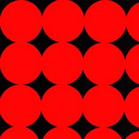 この模様の名前を教えてください。 少し歪ですが、こんな感じで大きい丸がいくつも重なり、幾何学的にダイヤの模様ができるような感じのやつです。 これに名前はありますか?