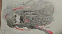 カゲプロお絵描き第二段です! カゲプロの薊を書きましたシャーペンです。 何歳くらいが書いたように見えるか 100点中何点か アドバイスをお願いします!