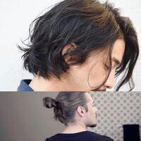 髪の毛を上側の写真のように軽めにパーマをあてて、ヘアカラーを下の写真の色にしたいのですが、可能でしょうか?ちなみに男でまだパーマもカラーも1度もしたことないヴァージンヘアーで髪質は柔らかく、髪色は少し 茶色がかった黒です。 パーマ後もヘアカラー後もトリートメントの施術があるメニューにしようと思っています。