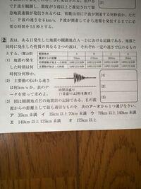 中学生理科の地震に関する分野です 分からないので教えて頂きたいです 以下の写真の大問2(1)~(3)です
