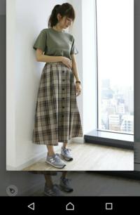 男性に質問! このスカートかわいいですか? 実際は深緑のタイトめなトップス、黒のバレエシューズを合わせる予定です。