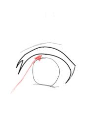 CLIP STUDIO PAINT(クリスタ)についての質問です。 ①A4サイズのキャンバスで画像の目のイラストを描いたのですが、細い線がなんか点状になってる感じみたいになっているのですがこれはどういう時に起きるのでし...