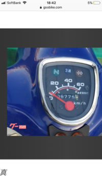 中古のスーパーカブ50を買いたいんですが 走行距離のメーターが何キロになっているか わからないので教えてほしいです!