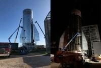 スペースx社ってロケットの格納庫は持ってないんですか? なぜいつも外で組み立ているんですかね?  数ヶ月前には強風で開発中の宇宙船が倒れたみたいですが。