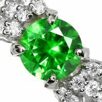 0.6ctのデマントイドガーネットのネックレス、相場はどのぐらいでしょうか?新品を宝飾店で購入する場合です。お店はノーブランドです。 この画像のような鮮やかなグリーンにホーステールが出ているランクのもの...
