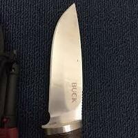 ハンティングナイフのBUCKセルカークの 刃の形状はホローグラインドであってますか?