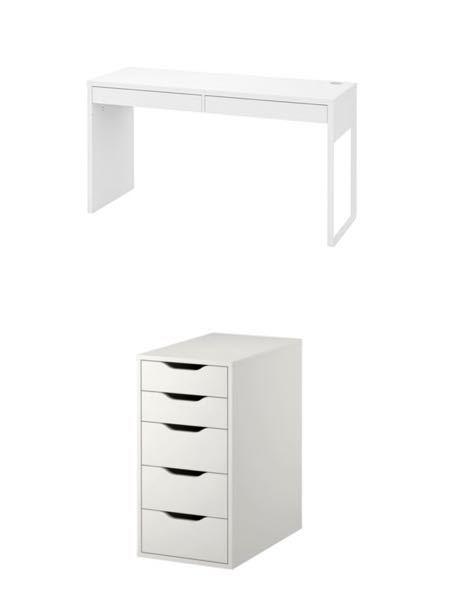 IKEAで販売している画像のデスクの下に引き出してユニットは入るでしょか?