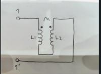 電気回路の問題です。 この画像の、端子1-1'から見たインピーダンスを教えてほしいです。コイルのL1,L2は自己インダクタンスでMは相互インダクタンスです。