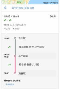 電車の乗り方イマイチわかりません。どこに電車止まるのかほんとに1人で行くのが怖いです。高校生なのですが2回しか経験がなく戸惑うかもしれません。 電車ってどこに止まるのですか? 宮城県の古川駅から涌谷駅までです。 それは時間帯によって乗る場所、降りる場所は違うんですか? 行きと帰りの何何行きの所に乗ればいいんですかね?