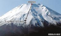 富士山頂から滑落したら止まれないですか?