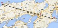 三重県伊勢市の伊勢神宮と島根県出雲市の出雲大社の間を車で移動すると時間は如何程かかりますか?