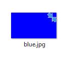 windows10で添付画像の様に画像のサムネイルのアイコンの右上に矢印みたいなのが表示されるのですが何故なんでしょうか?