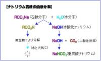 石鹸を自然分解させる時、水酸化ナトリウム(またはカリウム)と何が分かれるんでしょうか?また、化学実験として水酸化ナトリウムやカリウムに分解させる場合、どうすれば分解させるんでしょうか?