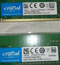 メモリ増設のために8GB×2のメモリを買ってきたんですけど、 今まで使っていた下のメモリと生産国が違うだけで一緒に使っても大丈夫なのでは? と思ったんですけどどう思いますか? パソコンに詳しい方は教えていただけると幸いです!