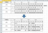 エクセルマクロ 同じ値が連続するセルを結合したい。  添付の様に 2行に数値を入力すると別のリストからVLOOKUPで 3行に作業内容が表示されるようにしております。 3行、5行、7行で同じ内容が連続するセルを結合し 左詰め、罫線で囲うようにするマクロを教えて下さい。