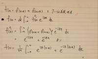 フーリエ変換の問題で、以下のデルタ関数のフーリエ変換を求めたいのですが、最後の行で詰まってしまいました。 どなた続きを教えていただけないでしょうか? お願いいたします!