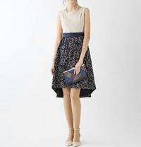 結婚式のパーティードレス。NG?  こんにちは。来月友人の結婚式に行きます。パーティードレスを買おうと思うのですが、写真のドレスはNGでしょうか?  上がベージュなのですが、これくらい なら大丈夫でしょ...