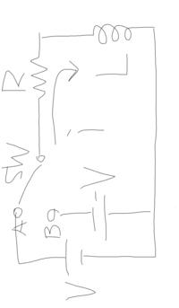 電気回路の過度現象について解説をお願いします。 次の回路で時刻t=0でスイッチをBに切り替えた時の過度電流i(t)の求め方を教えてください。 またi=0になる時間の求め方もよろしくお願いします。 いまいちわかり...