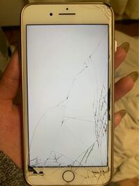 画面修理をしようと思っています これは私の携帯です! これはガラス割れ交換になるのでしょうか? それとも液晶+ガラス交換でしょうか?