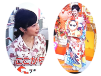 林田理沙アナ 沖縄風トップスと振り袖姿 どちらが良いでしょうか。