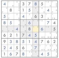数独 ナンプレ  解き方を教えてください! これから先がわかりません…