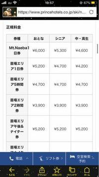 苗場スキー場の リフト券についてなのですが  Mt.naeba 1日券というのと 苗場エリア1日券は何が違うのですか??