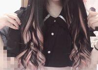 量産型ジャニヲタで、黒髪にピンクのインナーカラー?って合わないと思いますか?(><) このような感じです!
