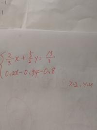 計算方法と答えを教えて下さい 自分では、分数に6をかけて整数にした 小数に10をかけさらに、xを消すために2をかけた よろしくお願いします