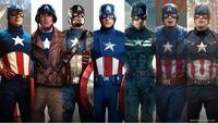 アメコミのキャプテンアメリカスーツでどれが1番好きですか?自分は左から3番目が好きです皆さんはどのスーツが好きですか?