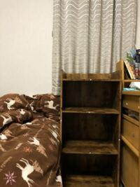 ニトリで棚買ったのですが、ここに置くのはどう思いますか?本棚として使う予定です。