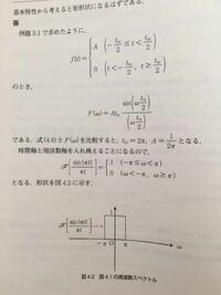 フーリエ変換についてです。比較してるので周波数スペクトルの-π<ω<tは1/2πじゃないんですか?