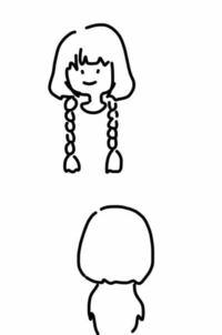 上半分ボブ、下半分ロングのヘアスタイルってなんていうんですか? ロングウルフでもなさそうです  ロングの上にボブがのっかってる感じの…!