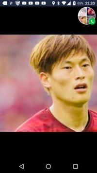 これって誰ですか。サッカー選手?かな?