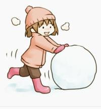 【大喜利】 元気よく、雪だるまを作ろうとしてる、女の子♪ しかし、その雪玉の核になっている、衝撃的なモノとは? \(◎o◎)/  [例] 大好きな、おじいちゃん。  (゜ロ゜)・・・?
