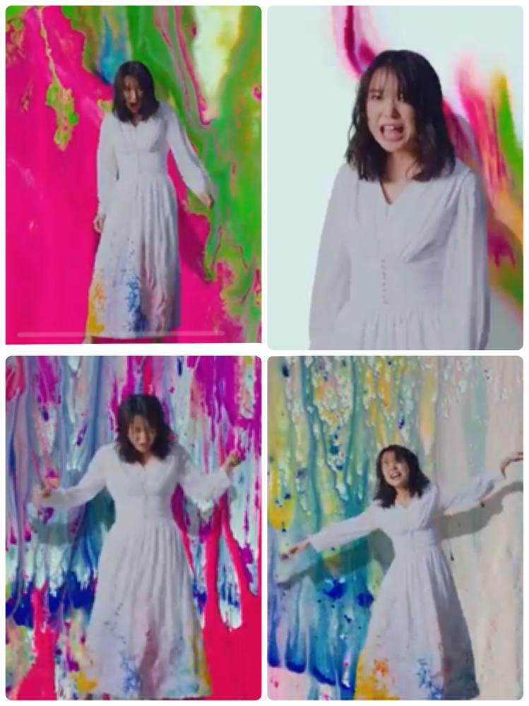 上白石萌音 新曲 衣装 ワンピース 上白石萌音さんの新曲MVで着用しているウエストが絞られている白いワンピースがどこのブランドか知りたいです。 アプリ等で調べましたが分かりません でした。