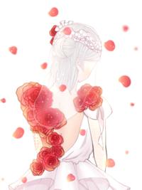 イラスト評価お願いします!m(._.)m   今、高校一年生なのですが、自分の絵を客観的に見るのがとても苦手なのでアドバイスが欲しいです!  キャラクターは第五人格の調香師の緋色の花嫁と いう衣装です!  ...