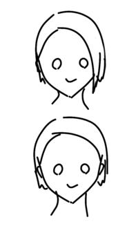 社員証の写真の髪型についてです。 私はいつも画像上のように、片方を流してるのですが、下のように全て耳にかけた方がいいのでしょうか? 内定が決まってから髪を切ったのでどうしたらいいか悩んでいます。 高卒です。 よろしくお願いします。