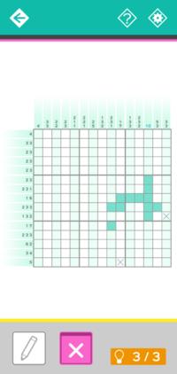 ロジックパズル、ピクロスですがここから進めれますか? 答えでなくここからの数手分の解き方を求めております。 宜しくお願いします。