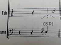 バンドスコア(ドラム譜)を見ています。 いきなりわからないのですが、これはどういうふうにすればいいでしょうか?