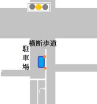 停止線から交差道路までの距離がある交差点で、停止線から先の中途半端な位置にいるとき、黄信号(赤信号)になってしまったら、  そのまま突き進むしかないですか??