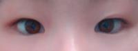 この目で似合いそうなメイク教えてください。アイテープはなしで。ありの場合アイテープのやり方まで教えてください。