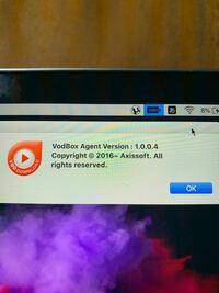 ステータスバーに変なアイコン?が表示されるようになりました これは何かわかる人いますか? また危険なものですか?  ちなみにMacです
