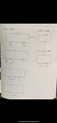 ブレッドボードを用いた抵抗の分圧回路について。  どうしても分からないため、ご回答いただけると嬉しいです。  下に汚いですが図を貼っておきます。  直流電源から2Vを印加しました。こ の時、ブレッドボード、ジャンプワイヤ、抵抗50Ω2つを用いて直列回路を作りました。 理論的には1つの抵抗の端子間電圧は1Vに分圧されますが、1本の受動プローブ(10MΩ)を用いて、 グランド(マ...