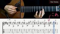 ギターのタブ譜/楽譜の記号について質問です。 音符の横の1, 4, 2...というのは弦を押さえる指の指定だと思うのですが  押さえ指の数字の上にある丸でかこまれた数字 ③とか④とかは、何を表しているのでしょうか??  わかる方教えてください!><  元動画 https://youtu.be/vHPOqcQN3d0?t=183