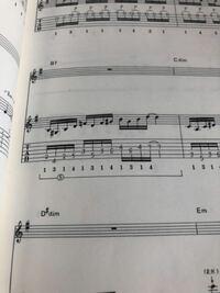 ギターTAB譜についての質問です。 指番号の下にカッコでまとめられている⑤とは何を表しているのでしょうか??