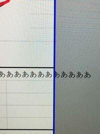 エクセルでこの青い枠を飛び出さずに、枠内に文章を収めるにはどうしたらいいのでしょうか。MacBookです。
