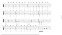 ギターのtab譜なんですがここの弾き方が分かりません。動画見てもどうなってるのか分かりませんでした。ただダウンピッキング?で弾いても動画のようにならず... 初心者です