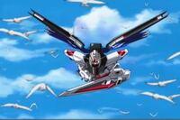 ガンダムSEED DESTINY 第14話 明日への出航を見たのですが、フリーダムとキラがカガリを救った後に鳥と並んで飛ぶシーンがありました。フリーダムと鳥は時速何キロでしょうか?