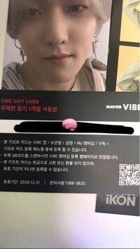 iKONの緑iDECIDEに入っているVIBE GIFT CARDって何に使うんですか?