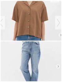 白いTシャツをGUのハイウエストストレートジーンズにinして、その上にGUの画像にある茶色のリネンシャツをボタンをあけて羽織るのはバランスどうですか? アドバイスお願いします(;_;) 女子高生です